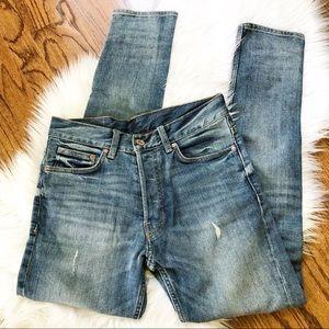H&M Button Fly Men's Slim Jeans 28x30